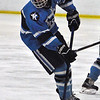 Jon Behm - The Morning Journal<br /> Kenston senior Lou Sugarman brings the puck up ice against North Olmsted during the secon dperiod of a Baron Cup I quarterfinal at Brooklyn's John M. Coyne Recreation Center on Feb. 9.