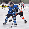 Jon Behm - The Morning Journal<br /> Kenston sophomore Bennett Wenger brings the puck toward the goal against North Olmsted during the second period of a Baron Cup I quarterfinal at Brooklyn's John M. Coyne Recreation Center on Feb. 9.
