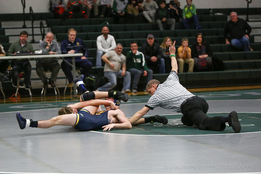 . Sharon Holy - The News-Herald Lake Catholic\'s Owen Weaver wrestles an opponent from St. Ignatius on Feb. 9.