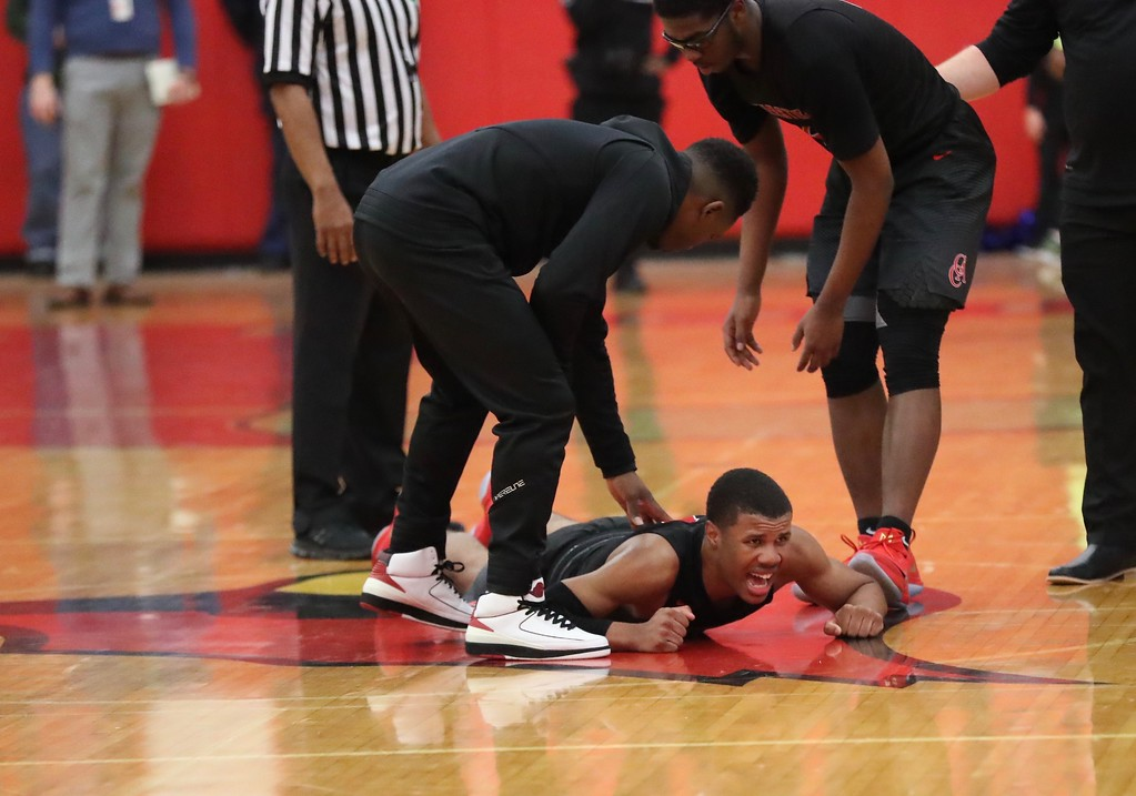 . Tim Phillis - The News-Herald Photos from the Cornerstone Christian at Mentor boys basketball game on Feb. 10, 2018.