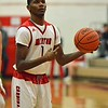 Paul DiCicco - The News-Herald<br /> Mentor's Allen Sims getting ready to attempt a free throw.