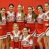 Paul DiCicco - The News-Herald<br /> Mentor's Varsity Cheerleaders getting ready to cheer the Cardinals on to a win.