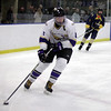 Randy Meyers - The Morning Journal<br /> Avon's Shane Docherty moves the   puck towards the Olmsted Falls goal during the third period of the Baron   Cup finals on Sunday