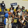 Paul DiCicco - The News-Herald<br /> Wickliffe's Neshawn Brown lines up a 3-pointer in front of the Wickliffe student section.