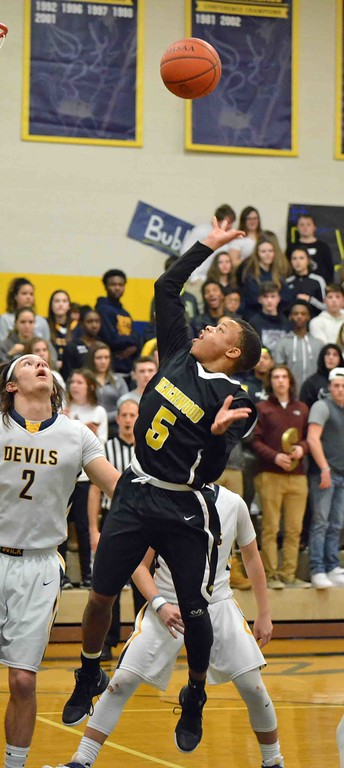 . Paul DiCicco - The News-Herald  Beachwood\'s Josh Sizemore, shooting from inside the key.
