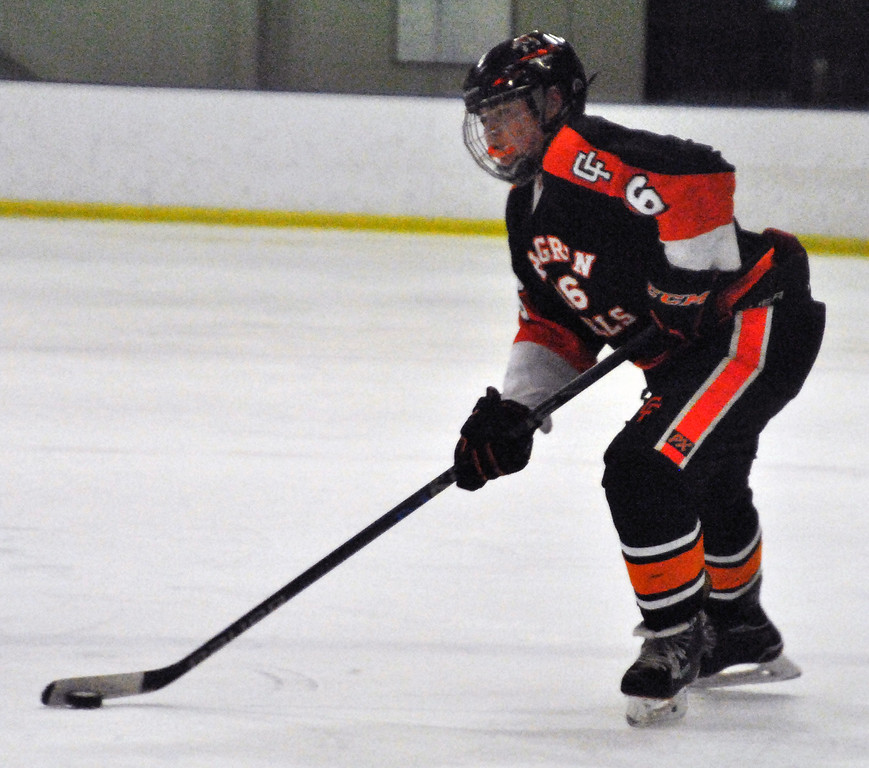 . Jon Behm - The Morning Journal Chagrin Falls freshman Ted Aerni looks for an open player during the second period of an OHSAA Brooklyn District first round game against Avon at Brooklyn\'s John M. Coyne Recreation Center on Feb. 15.