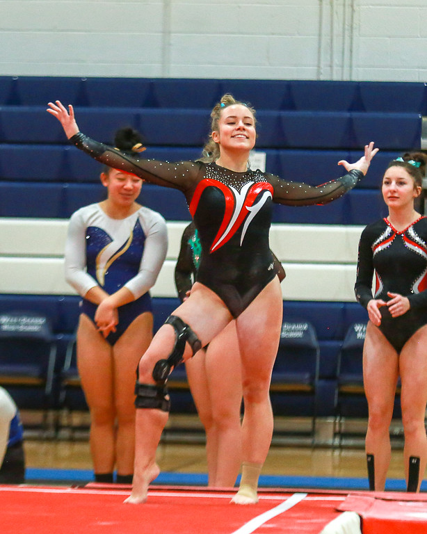 . Coleen Moskowitz - The News-Herald Photos from the West Geauga Sectional gymnastics meet on Feb. 17, 2018.