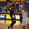Paul DiCicco - The News-Herald<br /> Cleveland Heights' Hayley Sims shooting from the paint.