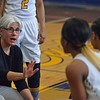 Paul DiCicco - The News-Herald<br /> Euclid's Head Coach Lynn Phillips, talking strategy during a timeout, late in the game.