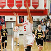 Barry Booher - The News-Herald<br /> Maddy Moyer breaks away for a layup. The basket put her in the 1000 point club at Mentor.