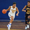 Paul DiCicco - The News-Herald<br />  Euclid's Calasia Cunningham running past the defense in transition.