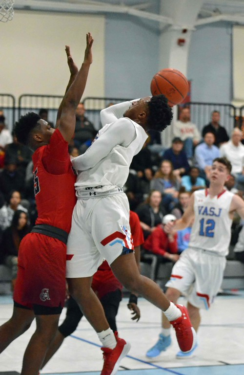 . Paul DiCicco - The News-Herald Photos from the Cornerstone Christian at VASJ boys basketball game on Feb. 19, 2018.