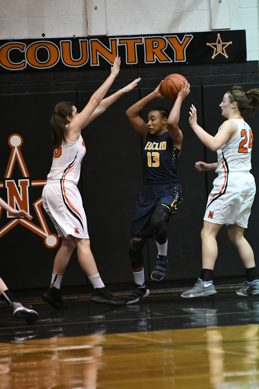 . Patrick Hopkins - The News-Herald Photos from the North vs. Euclid girls basketball game on Feb. 22, 2018.