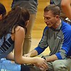 Paul DiCicco - The News-Herald<br /> Kenston Head Coach, Kevin Hinkle, talks strategy between the first and second quarter.