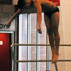 Jon Behm - The Morning Journal<br> Westlake senior Kenny Henry launches from the board during a dive at the Division I boys state competition on Feb. 24 at the C.T. Branin Natatorium in Canton.