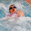 Jon Behm - The Morning Journal<br /> Rocky River freshman Morgan Schuld swims the backstroke leg of the girls 200 medley relay at the Division I State swim meet at C.T. Branin Natatorium in Canton on Feb. 25. The Pirates' relay finished 16th with a time of 1:48.58.