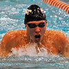 Jon Behm - The Morning Journal<br /> Avon senior Ben Brooks swims the breaststroke leg of the 200 IM at the Division I State swim meet at C.T. Branin Natatorium in Canton on Feb. 25. Brooks placed third with a time of 1:50.36.