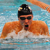 Jon Behm - The Morning Journal<br /> Avon senior Ben Brooks swims the breaststroke leg of the 200 IM at the D-I State meet on Feb. 25.