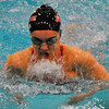 Jon Behm - The Morning Journal<br /> Rocky River senior Laura Banks swims the 100 breaststroke at the D-I State meet on Feb. 25.