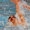 Jon Behm - The Morning Journal<br /> Avon senior Ben Brooks swims the backstroke leg of the 200 IM at the Division I State swim meet at C.T. Branin Natatorium in Canton on Feb. 25. Brooks placed third with a time of 1:50.36.