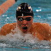 Jon Behm - The Morning Journal<br /> Avon senior Ben Brooks swims the 100 breaststroke at the D-I State meet on Feb. 25.