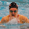 Jon Behm - The Morning Journal<br /> Rocky River senior Laura Banks swims the 100 breaststroke at the D-I State swim meet at C.T. Branin Natatorium in Canton on Feb. 25. Banks took 15th with a time of 1:05.30.