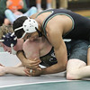 Barry Booher - The News-Herald<br /> Kevon Freeman ( Lake Catholic ) (TOP) v Justin Mason ( Conneaut ) 145 LBS.