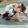 Barry Booher - The News-Herald<br /> Collin Langer ( Lake Catholic ) (TOP ) v Sam Cales ( Perry ) 152 LBS.