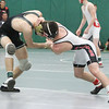 Barry Booher - The News-Herald<br /> Mitchell Skieres ( Lake Catholic ) v Jacob Peteritis ( Perry ) 132 LBS.