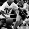 Cleveland Central Catholic's Earl Boykins and Wickliffe's Tom Contenza in March 1993.