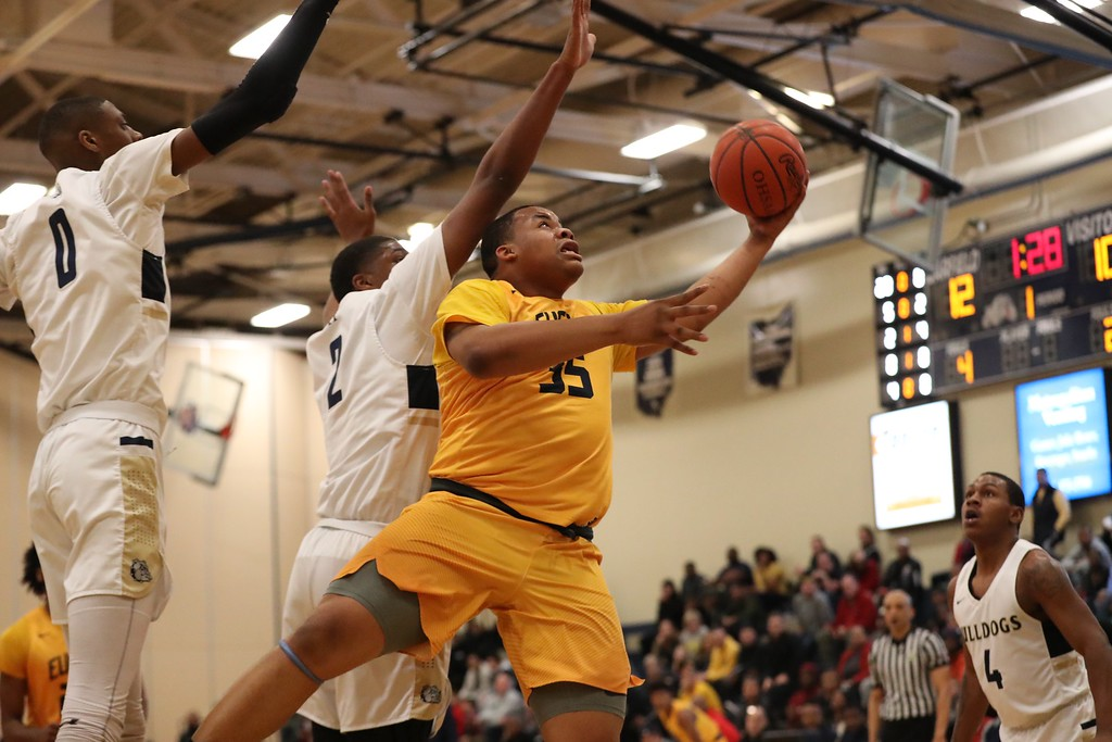 . Tim Phillis - The News-Herald Photos from the Euclid vs. Garfield Heights boys basketball game on March 4, 2018.