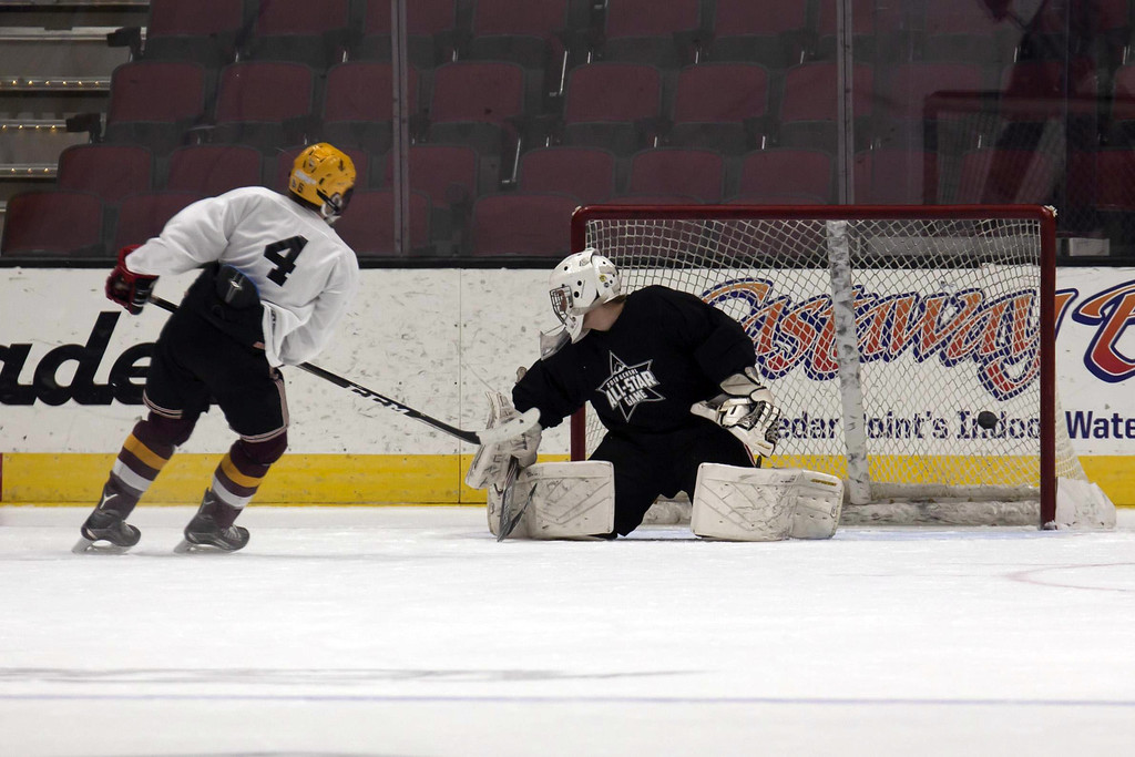 . Jen Forbus - The Morning Journal  Action from the GCHSHL All-Star hockey game on March 4 at the Quicken Loans Area.
