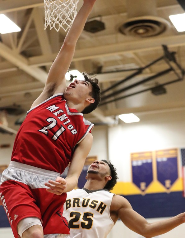 . Tim Phillis - The News-Herald Photos from the Mentor vs. Brush boys basketball game on March 8, 2018.