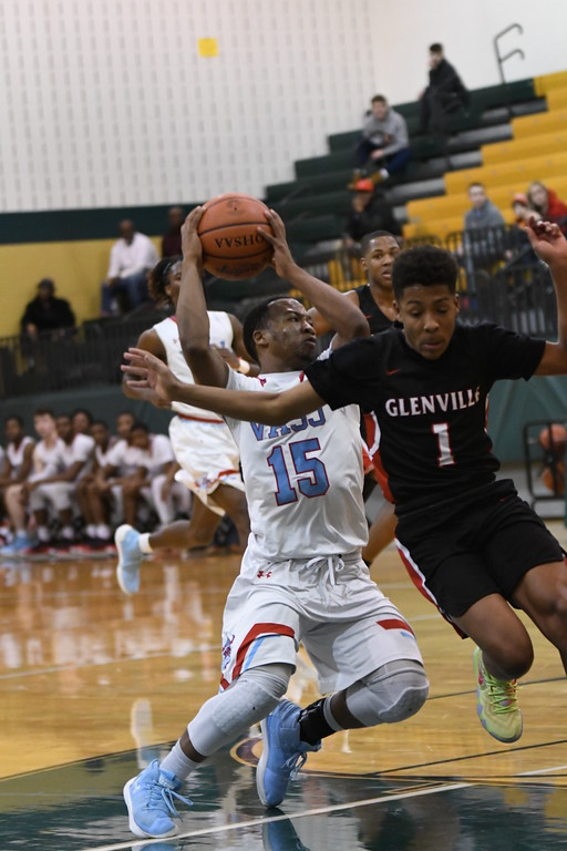 . Patrick Hopkins - The News-Herald Photos from the VASJ vs. Glenville boys basketball game on March 8, 2018.