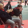 John Kampf - The News-Herald<br /> Mentor coaches Ray Lamanna and Keith Pollock look on during the first round of the state wrestling tournament on March 9 in Columbus.