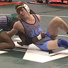 John Kampf - The News-Herald<br /> Mike Farkas of South wrestles Jaiman Hood of Mason during the first round of the state wrestling tournament on March 9 in Columbus.