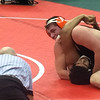 John Kampf - The News-Herald<br /> Newbery's Kade Marker wrestling during the first day of the state wrestling tournament on March 9 in Columbus.