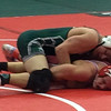 John Kampf - The News-Herald<br /> Lake Catholic's Collin Langer wrestles during the first day of the state wrestling tournament on March 9 in Columbus.