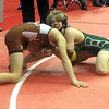 John Kampf - The News-Herald<br /> Conor McCrone of Lake Catholic wrestles Brandon Lucas of Western Brown during the first round of the state wrestling tournament on March 9 in Columbus.