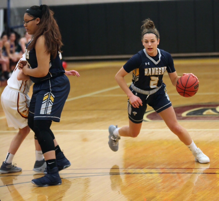 . Randy Meyers - The Morning Journal Miss Basketball 2018 Isabella  Geraci drives around the pick set by teamate Cianna Bright of North  Ridgeville during the senior All Star game on Saunday