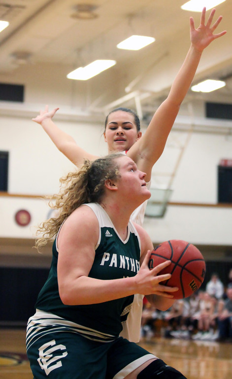 . Randy Meyers - The Morning Journal Ally Winnen of Elyria Catholic  drives the baseline against Victoria Jackson of Oberlin during the Rising  Stars All Star game