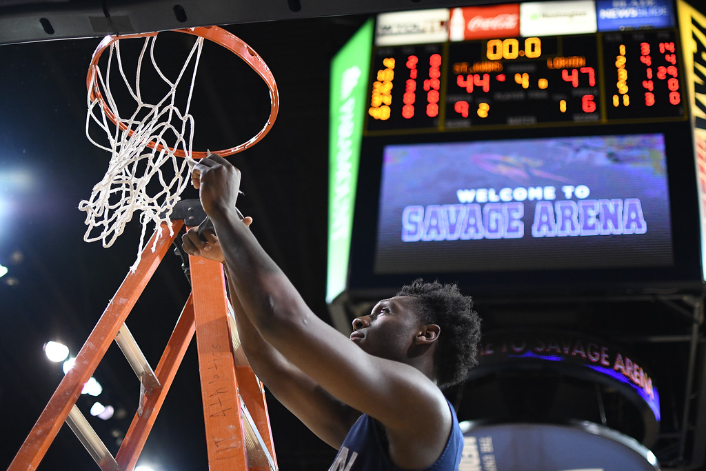 . Eric Bonzar�The Morning Journal<br> The Lorain Titans knocked off Toledo St. John\'s, 47-44, to advance to the D-I state championship final four, March 17, 2018. The Titans will travel to Columbus on March 23.