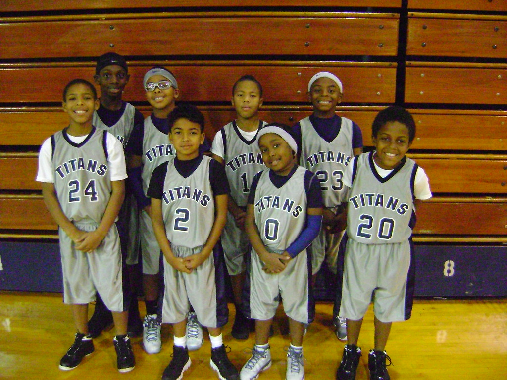 . Courtesy Lorain Athletics A team picture of the Junior Titans featuring current Lorain stars Devon Grant (2), Jordan Jackson (5), Kameron Davis (20) and Taevon Pierre-Louis (back left). Grant, Davis and Pierre-Louis were all in third grade, while Jackson was in second grade.