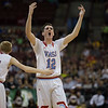 VASJ's Daniel McGarry celebrates during the 4th quarter of the Vikings' 54-52 victory over Roger Bacon in the Division III State Final on March 25 at the Schottenstein Center in Columbus.