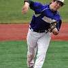Jon Behm - The Morning Journal<br /> Vermilion's Mason Montgomery delivers a pitch during the bottom of the fourth inning against Elyria Catholic on March 28 at Oberlin College.