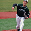Jon Behm - The Morning Journal<br /> Elyria Catholic's Andrew Abrahamowicz delivers a pitch during the top of the fourth inning against Vermilion on March 28 at Oberlin College.