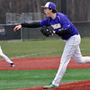 Jon Behm - The Morning Journal<br /> Vermilion's Evan Ozmun delivers a pitch during the bottom of the first inning against Elyria Catholic on March 28 at Oberlin College.