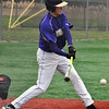 Jon Behm - The Morning Journal<br /> Vermilion's Reese Miller takes a swing during the top of the first inning against Elyria Catholic on March 28 at Oberlin College.