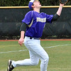 Jon Behm - The Morning Journal<br /> Vermilion's Nik Barkdull tracks down a foul ball during the bottom of the second inning against Elyria Catholic on March 28 at Oberlin College.