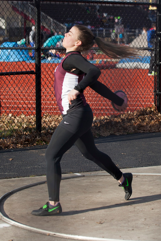 . Jen Forbus - The Morning Journal<br> Ceci Wischmeier of Rocky River throws the discus during the Avon Lake Invitational on March 31.